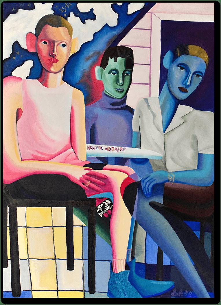 Paulina Kubiak - Three People sitting at a table